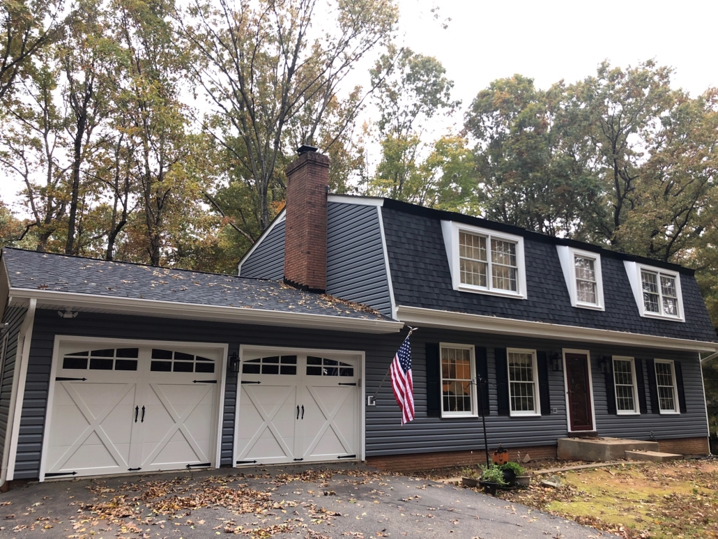 after new siding and roof installed by Top Dog Home Pro Woodbridge, VA