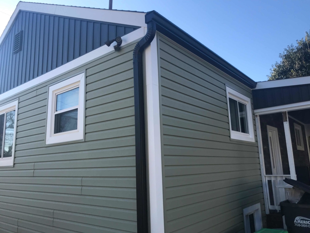 new siding and new gutters